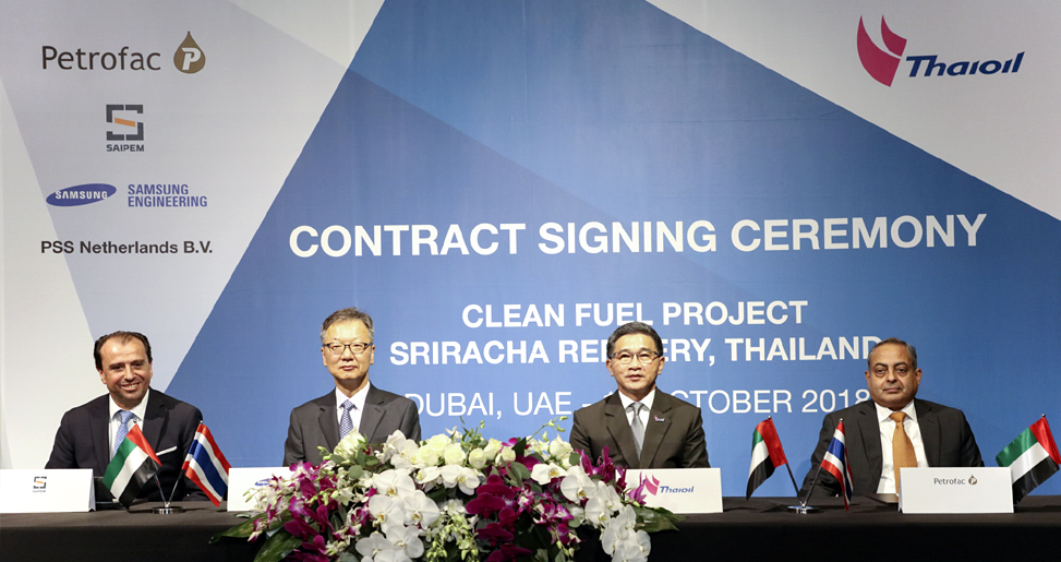 Awarded Clean Fuel Refinery project from Thai Oil Plc. in Thailand